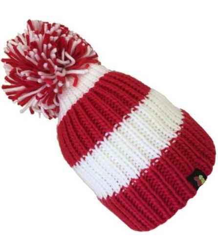 Big Bobble Hats - Woolly Wally - Red and White Bobble Hat