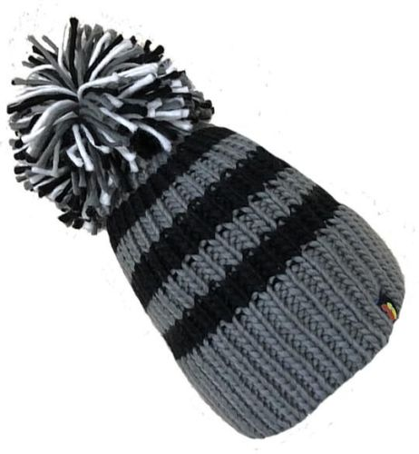 Big Bobble Hats - Shady Zebra - Grey Bobble Hat