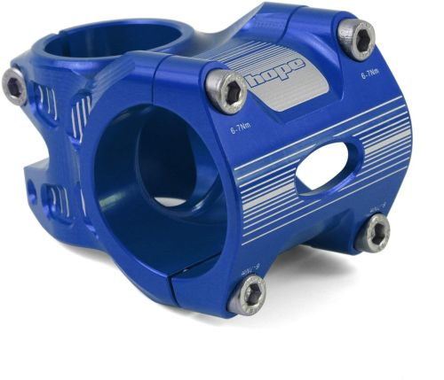 Hope AM Freeride Stem 0 Deg 50mm 35 Clamp Blue
