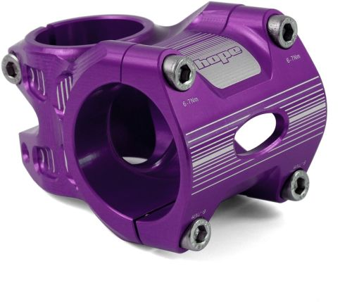 Hope AM Freeride Stem 0 Deg 50mm 35 Clamp Purple