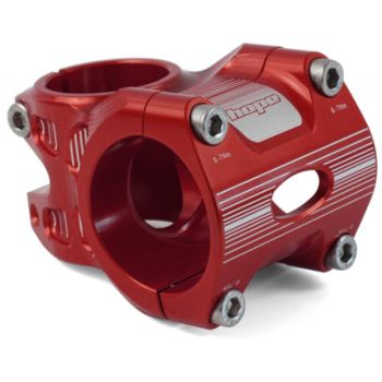 Hope AM Freeride Stem 0 Deg 50mm 31.8 Clamp Red