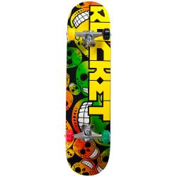 Rocket Complete Skateboard Pro Logo Jah Head Rasta 7.8 IN
