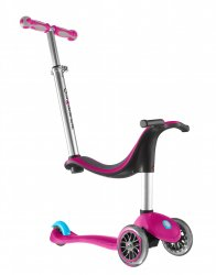 Globber 'My Free' 2C 4-in-1 Scooter - Pink