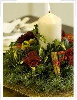 Christmas Table Arrangements.