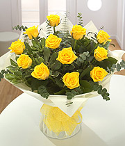 A Dozen Yellow Roses.