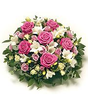 Pink & White Rose Posy.
