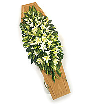 White Lily Coffin Spray