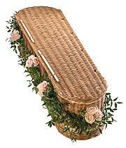 Pink Rose Coffin Garland.