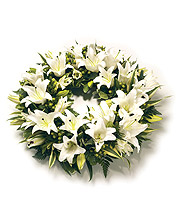 White Lily Wreath.