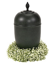 Gypsophilia Urn Wreath.