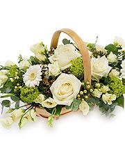 White Rose Basket.