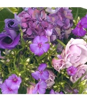 mixed sheaf purple and lilac