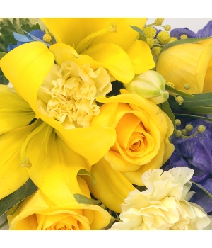 mixed sheaf yellow and blue