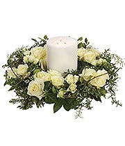 Rose Wreath with Candle.