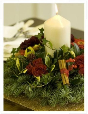 Christmas Table Posy