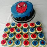 spiderman cake & cupcakes