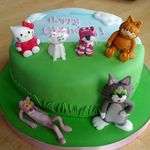 cartoon cats cake