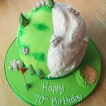 hillwalking golf & skiing cake