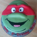 turtles theme cake