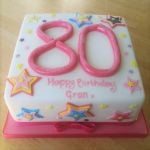 80th birthday cake with stars