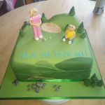 lady golfing birthday cake