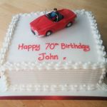red sports car birthday cake