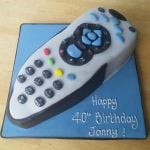 sky remote birthday cake