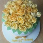 yellow roses birthday cake