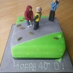 Cameraman 40th birthday cake