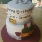 Vintage wine 70th birthday cake