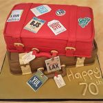 Luggage birthday cake