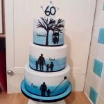 Generations ombre sillouete birthday cake