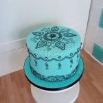 Henna pattern birthday cake