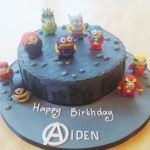 Minion superheros birthday cake