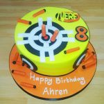 Nerf theme birthday cake