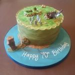 Orkney Isles 70th birthday cake