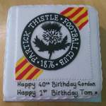 Partick Thistle cake