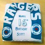 Rangers Football Scarf cake