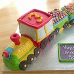 toy train birthday cake