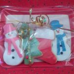 christmas iced biscuits tray