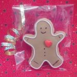 christmas gingerbread man iced biscuit