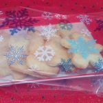 christmas plain biscuits tray