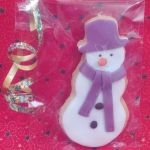christmas snowman iced biscuit