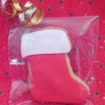 christmas stocking iced biscuit