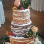 Fruit and Flowers naked wedding cake