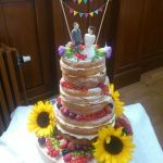 sunflower naked cake