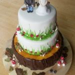 woodland cake 3 tiers