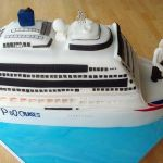 Cruise Ship wedding cake