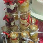 cake jars wedding cake