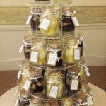 chocolate & lemon wedding cake jars